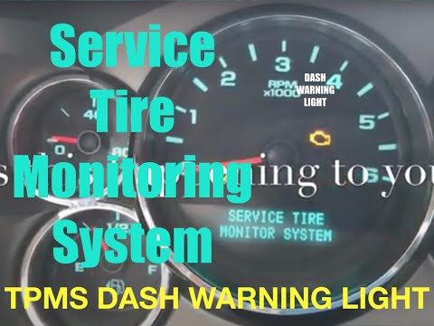 """""""SERVICE TIRE MONITOR SYSTEM"""" Dash Warning Light-What to do about it"""