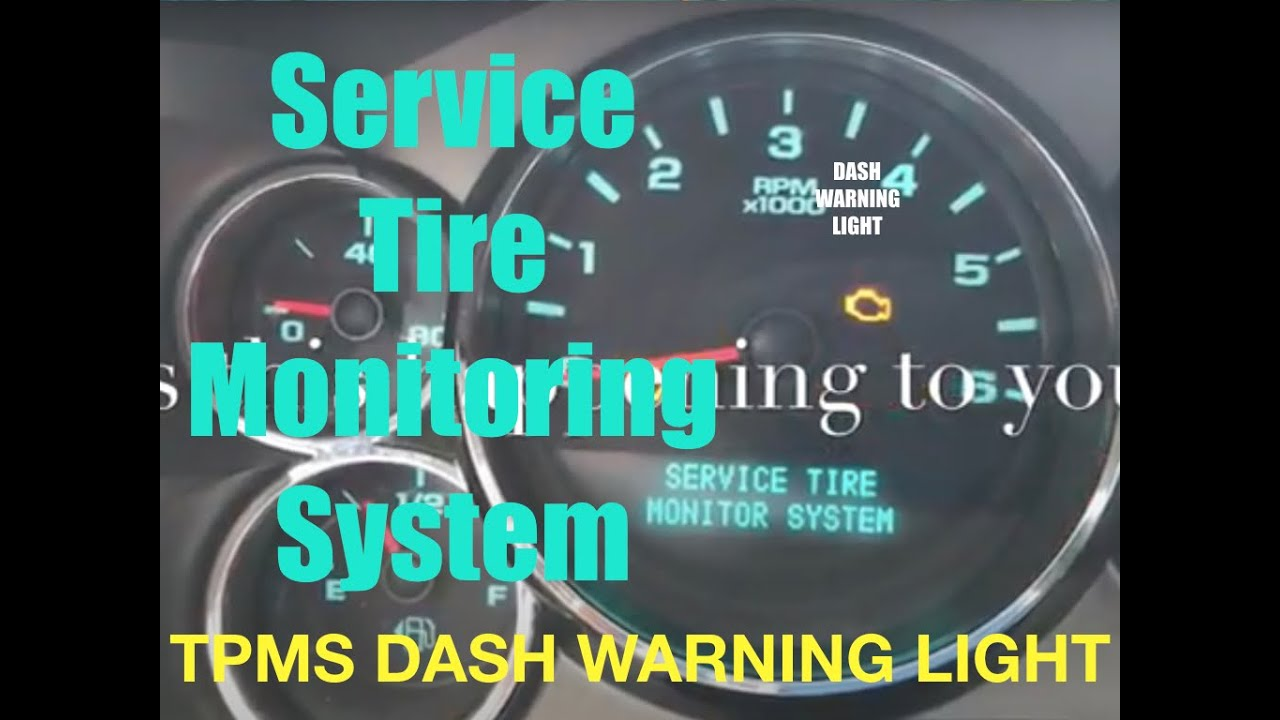 Service Tire Monitor System Dash Warning Light What To Do About It