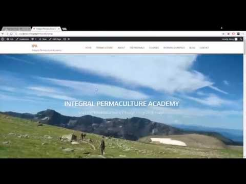 Integral Permaculture Academy - Wordpress Tutorial
