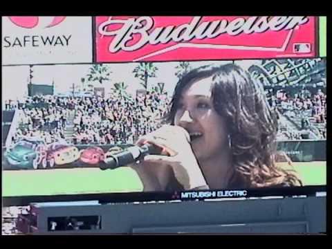 Dana Soliman National Anthem SF Giants