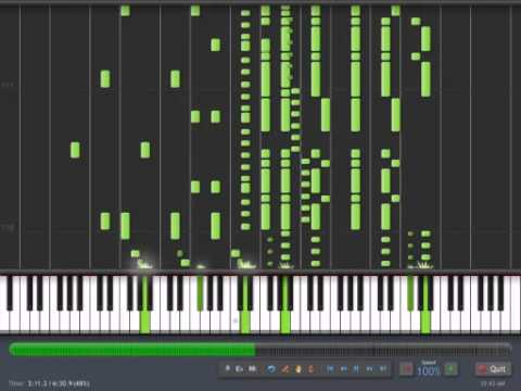 Mario Medley player piano roll (Synthesia)