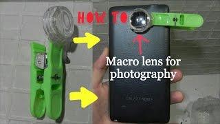 DIY SMARTPHONE CAMERA MACRO LENS- MAGNIFYING GLASS- very easy at home