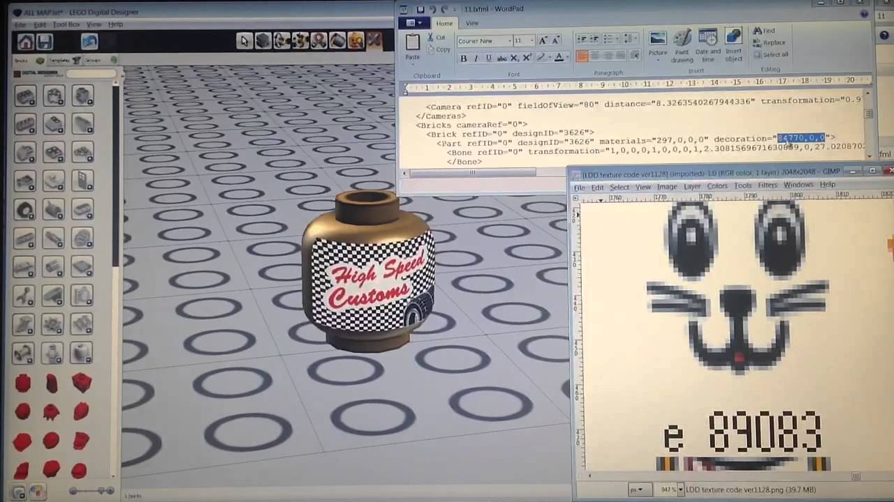 Lego ldd tricks 11 apply 1100 decals on 500 places of 30 youtube