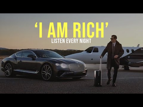 'I AM RICH'   Money Affirmations   Listen Before You Sleep!