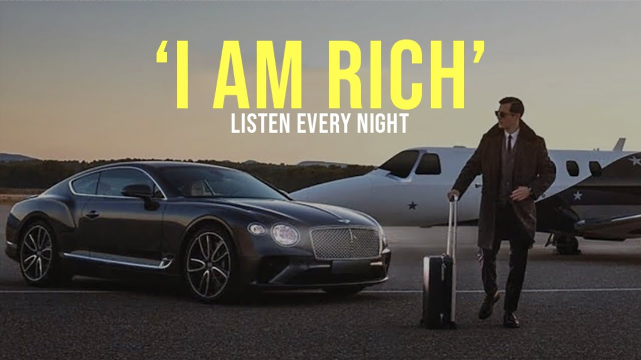 I AM RICH' | Money Affirmations | Listen Before You Sleep! - YouTube