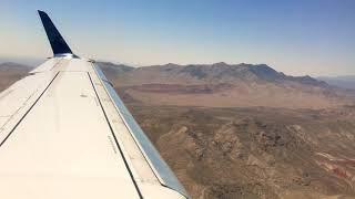 Delta Embraer 175 Turbulent Landing in LAS Vegas from LAX 6-8-18
