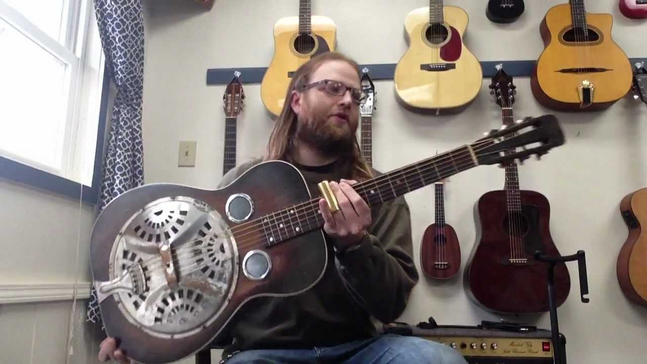 1936 dobro model 27 vintage resonator guitar youtube. Black Bedroom Furniture Sets. Home Design Ideas