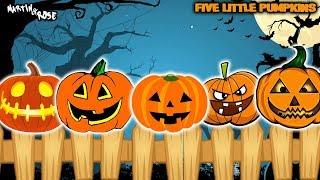 Five Little Pumpkins Sitting on a Gate 2019 | Halloween Songs for Kids
