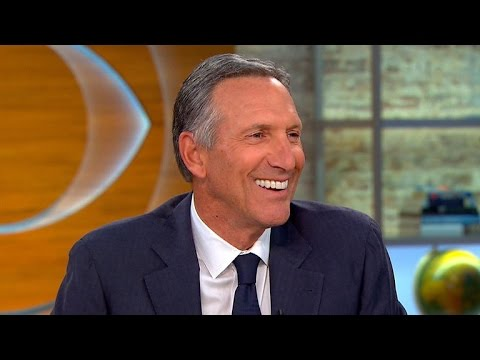 "Starbucks CEO talks ""Upstanders"" series, endorses Hillary Clinton"