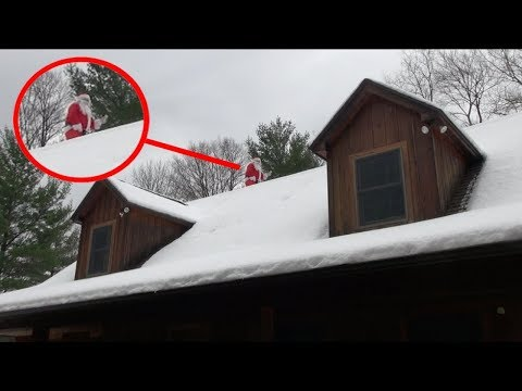 10 Sightings of Santa Claus Caught on Camera (Real Life Sant