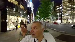 A 360˚ View of the Ginza Shopping District in Tokyo, Japan.