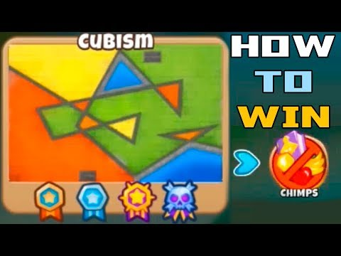 Bloons TD6 - How to Win In Cubism on CHIMPS - Hard Chimps Ga