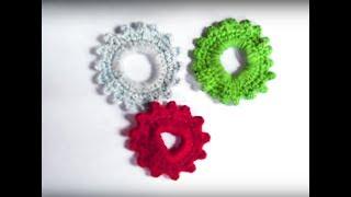 Мастер-класс Резинка для волос крючком | Crochet elastic hair band