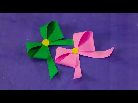 How to make a paper Bow Ribbon - Easy origami Bow Ribbons for beginners making | Nusrat DIY Crafts