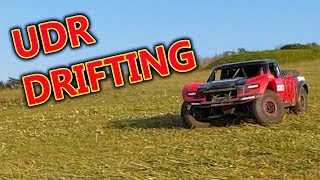 Traxxas Unlimited Desert Racer 4WD Drifting + Crashes