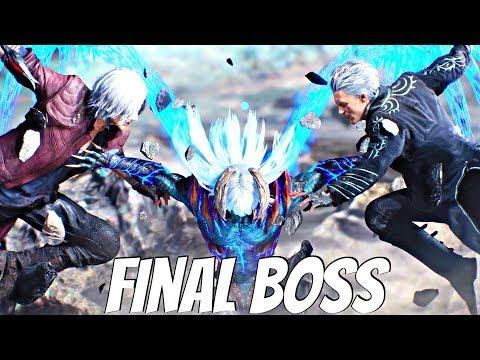 Devil May Cry 5 - Nero Devil Trigger vs Vergil Final Boss (DMC5 2019) PS4 Pro