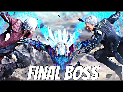 Devil May Cry 5 - Nero Devil Trigger vs Vergil Final Boss (DMC5 2019) PS4 Pro
