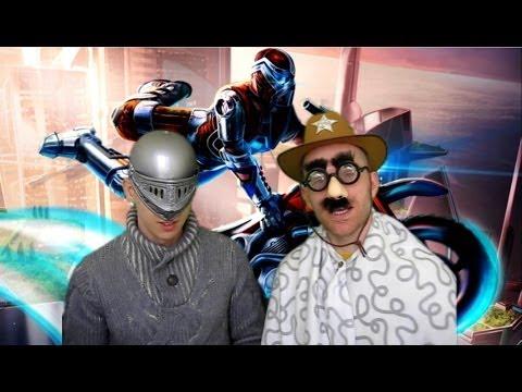 Trials Fusion - Gameplay Best Time Multiplayer Challenge - No Tricks (CyborgKnightman Vs Sheriffman)
