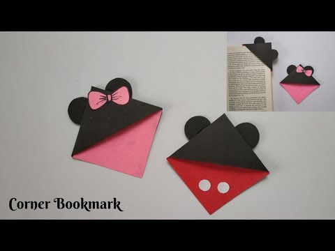 DIY Corner Bookmark | Minnie Mouse and Mickey Mouse Bookmark | Paper Crafting