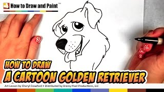 How to Draw a Dog - Golden Retriever Drawing - Art for Kids | CC