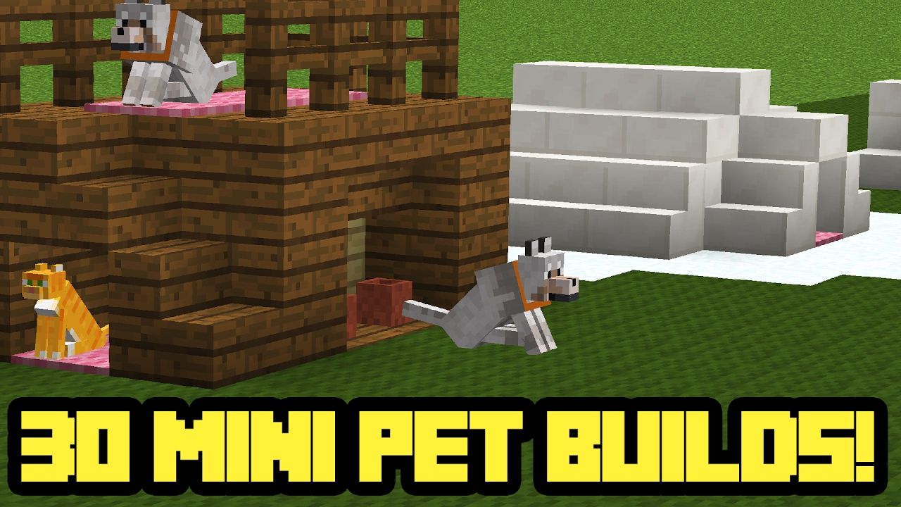 30 Mini Minecraft Pet House Builds