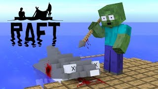 Monster School : Raft Survival Game Challenge - Minecraft Animation