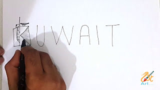 WOW! How to TURN WORD KUWAIT into Cartoon City