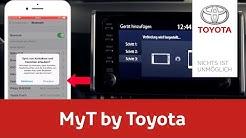 MyT by Toyota – Smartphone mit Multimediagerät verbinden