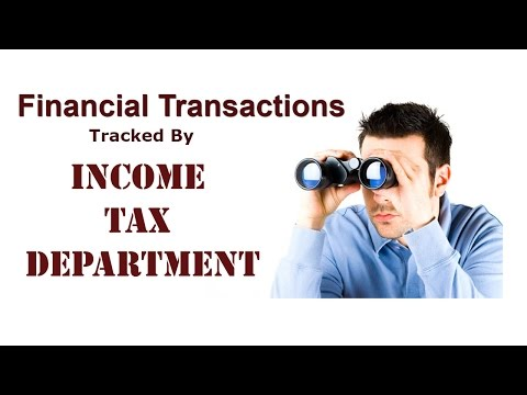 Avoid Income Tax Notice / Transactions tracked by tax depart