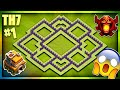"""""""MIGHTY"""" BRAND NEW TOWN HALL 7 (TH7) TROPHY/TITAN LEAGUE BASE DESIGN 2018-Clash Of Clans"""
