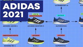 ADIDAS 2021. Обзор и сравнение 14 моделей. Беговые кроссовки. SUPERNOVA vs ADIOS PRO vs ULTRABOOST