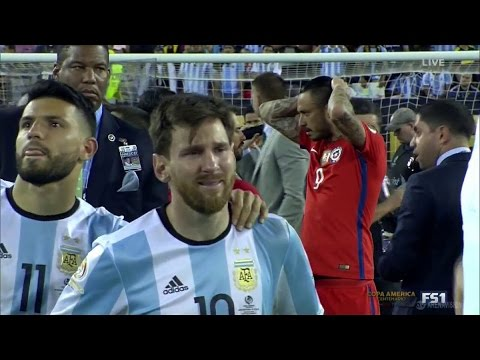 MESSI CRIES as Chile Win 2nd Straight COPA AMERICA | Chile Win 4-2 on Pens