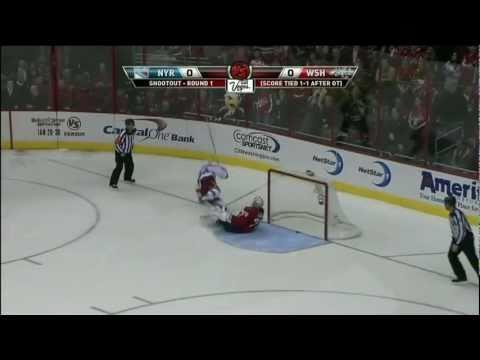 Wojtek Wolski Shootout Goal 1/24/11 @ Washington