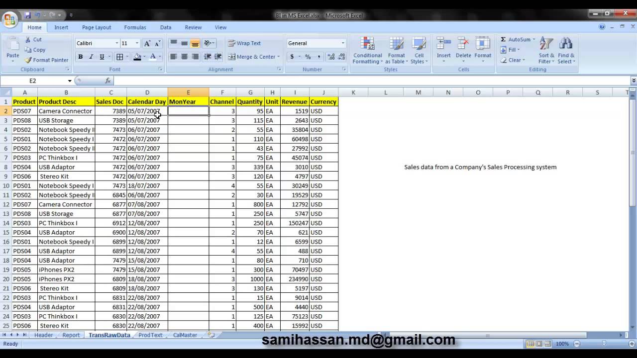Example T Accounts On Excel