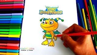 How to draw HENRY HUGGLEMONSTER | Aprender a dibujar a Henry Monstruito
