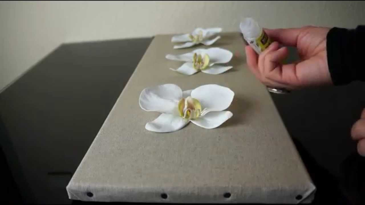 R aliser un tableau floral atelier fleur de mai youtube - Creation facile a faire soi meme ...