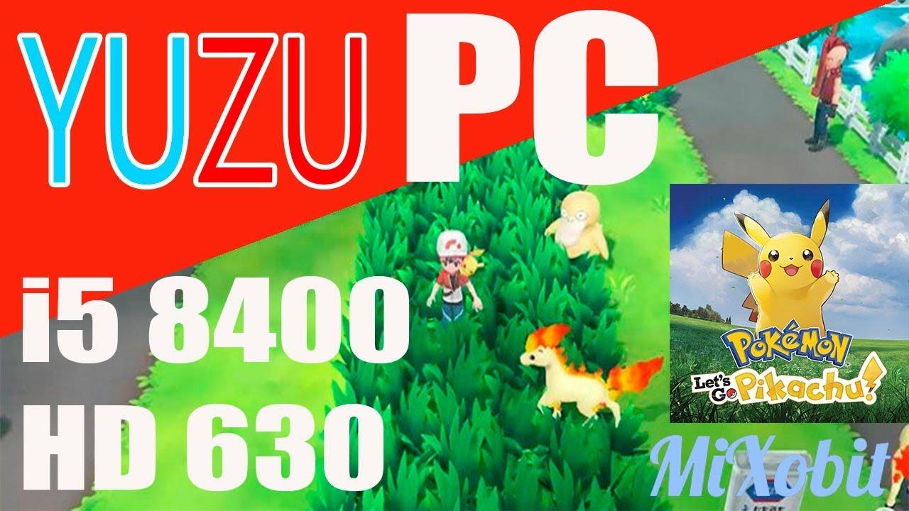 Switch Emulator Pokémon Let's go Pikachu i5 8400 integrated HD 630