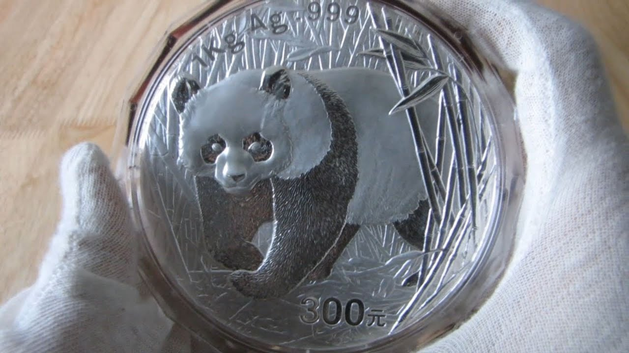 Hd 2002 Chinese Silver Panda 1 Kilo Silver Coin Youtube