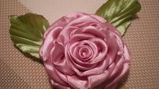Роза из атласных лент  Канзаши / Своими руками. Видео./Rose ribbons(Урок № 16 В этом видео я хочу показать как легко и красиво можно сделать розу. Для создания такого цветка..., 2015-08-04T15:57:13.000Z)