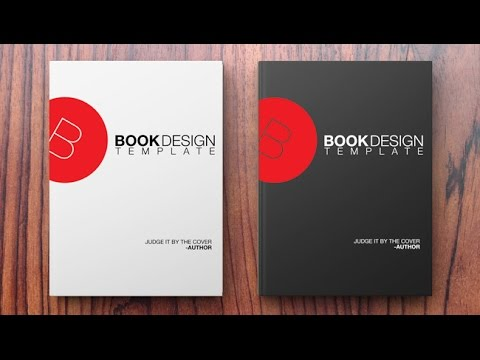 how to create a book design template in photoshop youtube