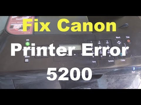 Fix Canon Printer Error 5200 (3 Solutions)