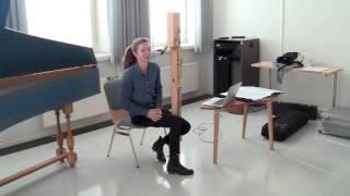 Anna Petrini demonstrates the contrabass recorder