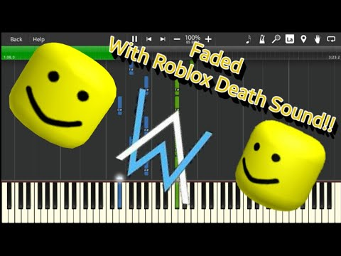 Faded But With Roblox Death Sound Oof Youtube