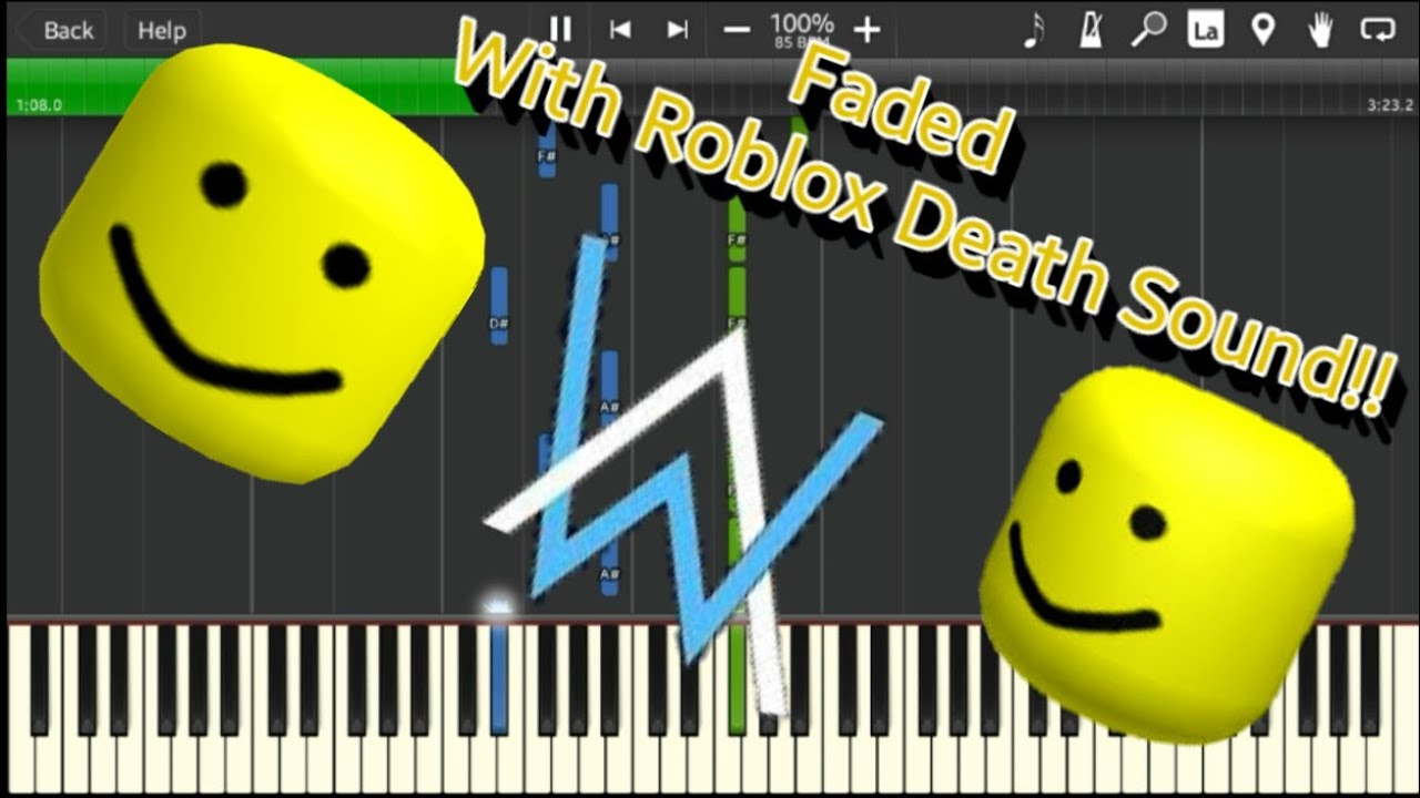 Faded But With Roblox Death Sound(OOF)!!!