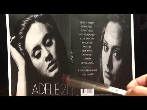 Adele 21 digipak analysis