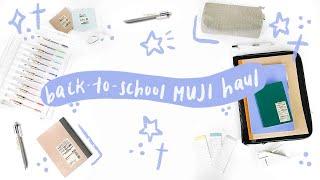 Back to School MUJI Haul