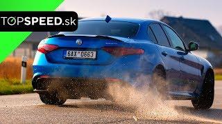 Alfa Romeo Giulia Quadrifoglio test - Maroš ČABÁK TOPSPEED.sk