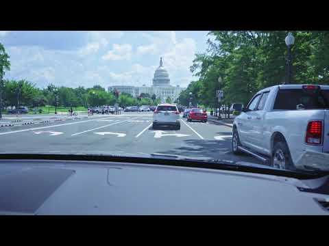 4K video of Washington DC: A drive down Pennsylvania Avenue