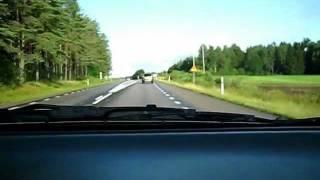 Travel Sweden Nyköping Katrineholm på 3 minuter time lapse. 60 km på 3 minuter.