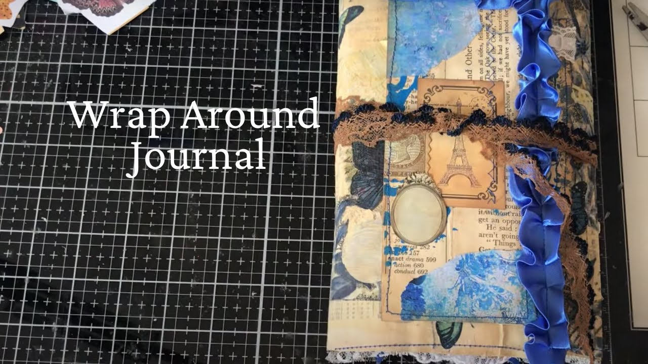 Making Grungy Wrap Around Cover Junk Journal